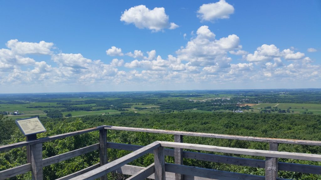 Visit Blue Mounds State Park near Cave of the Mounds in Wisconsin